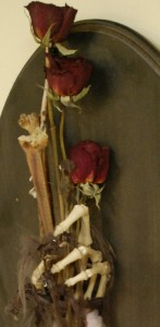 """detail of """"her roses"""""""