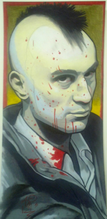 travis bickle handpainted print