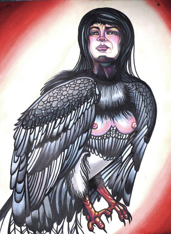 harpy tattoo art