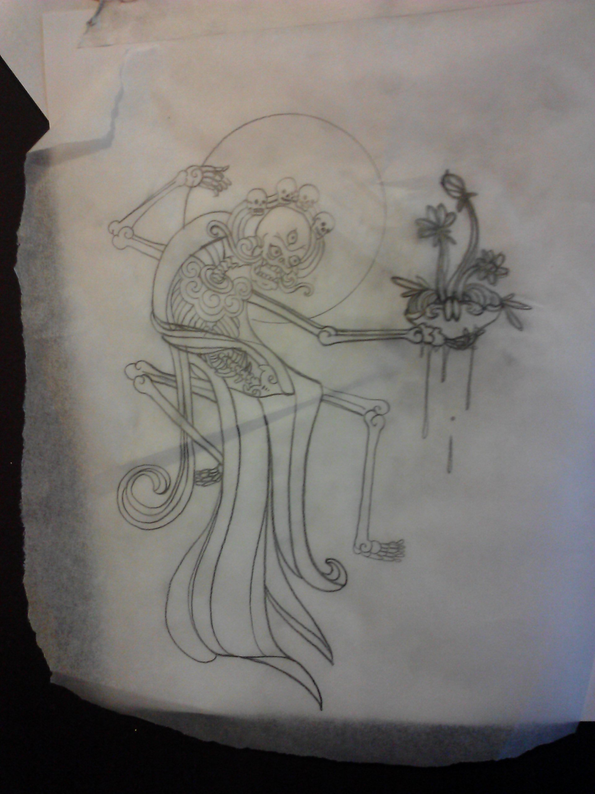study for a thigh tattoo