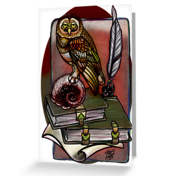I looked at a real dead owl to draw  this guy. Then I buried the thing.