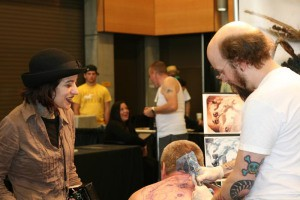 will bodnar, cicada tattoo, anji marth, high priestess tattoo, at tattoo convention