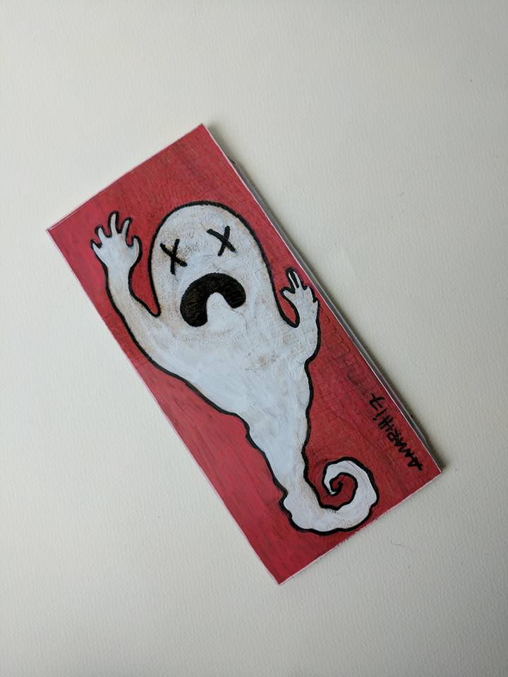 ghost cartoon mini painting