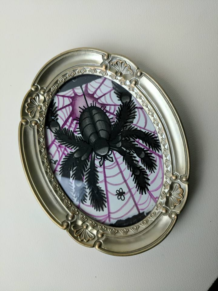 tattoo spider mini painting