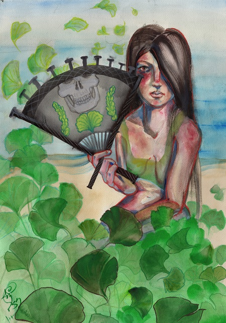 "sunburn memories watercolor and pencil on arches coldpress paper, 16x20"". original sold. click image for prints."