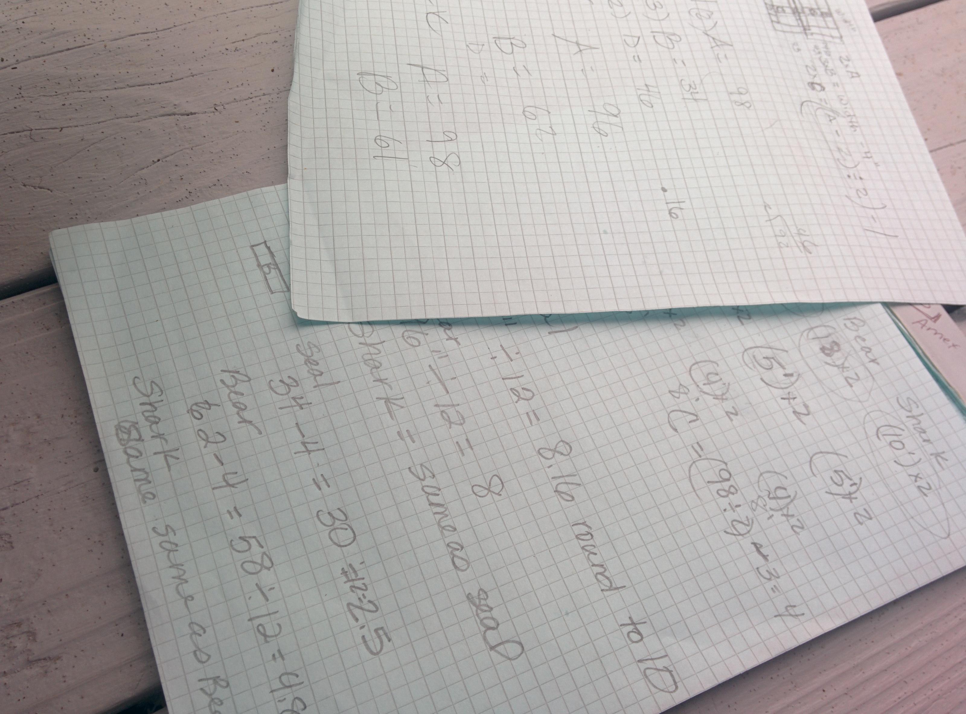 deb's math