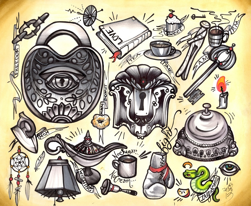 everyday things tattoo flash
