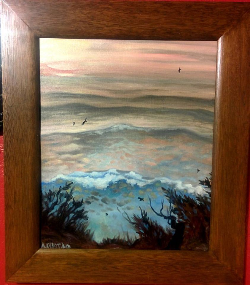oregon coast seascape painting in oils