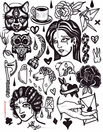 inky flash sheet print