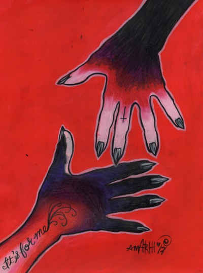 but it's for me/wickedness (hand series)