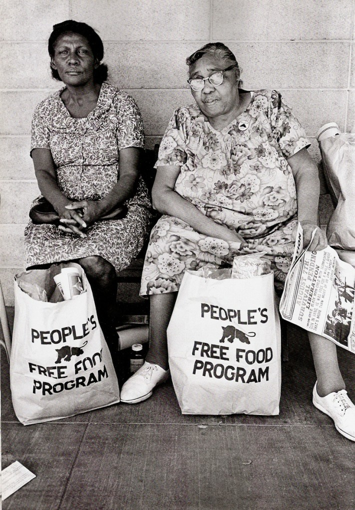 members of the Black Panthers, preparing to feed the community