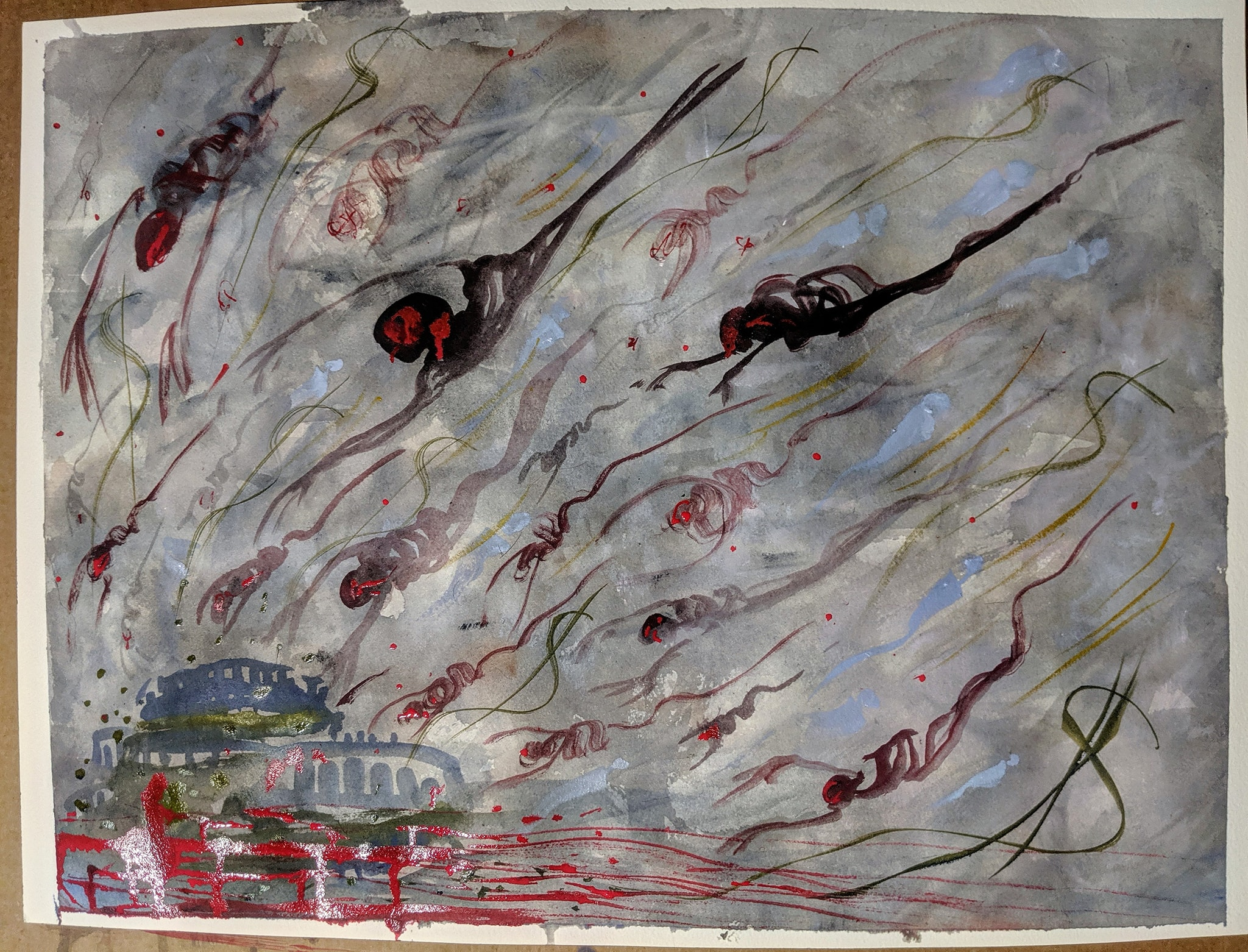 Paintings from Quarantine- Rikers Island